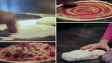 Italian pizza preparation - composition