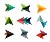 Vector arrow business geometric stickers