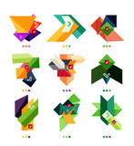 Collection of colorful business geometric shapes