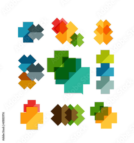 Set of cross geometric shapes - symbols