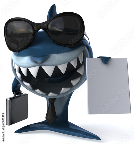 canvas print picture Shark