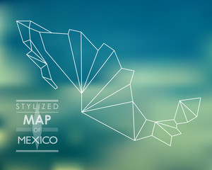 Stylized map of Mexico