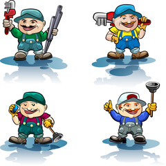 The plumber icon set
