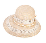 summer ladies hat on a white background