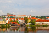 Czech republic, Prague, view on Gradchana and the Vltava River