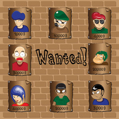 Posters of a wanted bandit