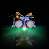 abstract music background with drum kit