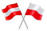 Flags : Austria and Poland