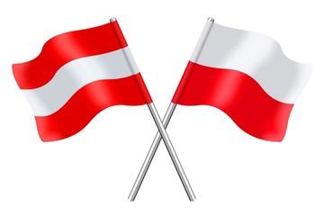 Flags : Austria and Poland