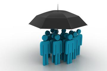 business people under an umbrella