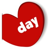 day vector heart rotes Herz Post It Markierung
