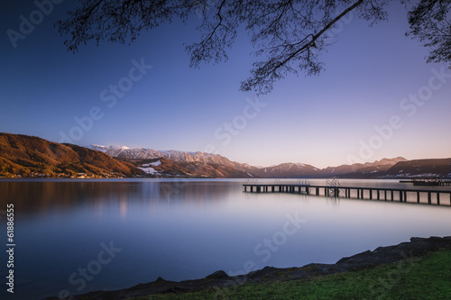 canvas print picture Sonnenuntergang am Attersee