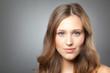 Leinwanddruck Bild - Mädchen mit braunen Haaren
