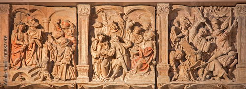 Veinna - Reliefs of Jesus torture from St. Stephens cathedral