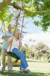 Portrait of a happy mature couple at park