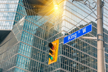 King Street Sign - Toronto downtown