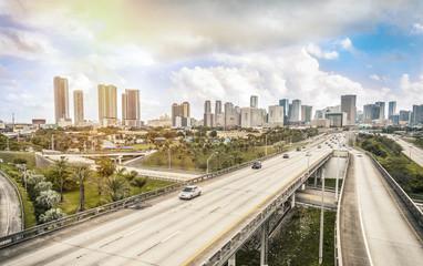 Miami skyline and Highways