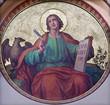 Leinwandbild Motiv Vienna -  St. John the Evangelist fresco in Carmelites church
