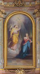 Vienna - Annunciation from altar of baroque Servitenkirche