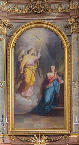 Vienna - Annunciation from altar of baroque Servitenkirche