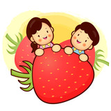 Large Strawberry and Family Mascot. Home and Family Character De