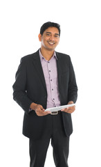 indian business male with tablet