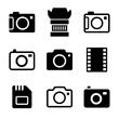 Photo Camera and Accessories Icons Set - 61888915