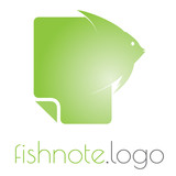 Fish note logo