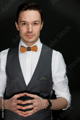 man in suit with bow-tie