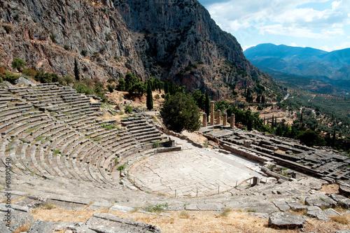 Deurstickers Athene Delphi, Greece