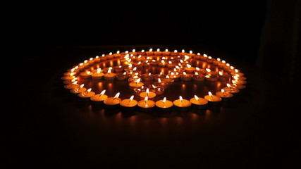 Candles Pentagram Dolly