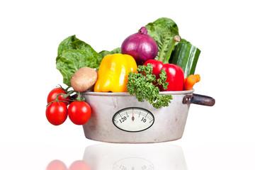 Gemüse mit Waage