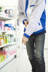 convenience store salesclerk cleaning up