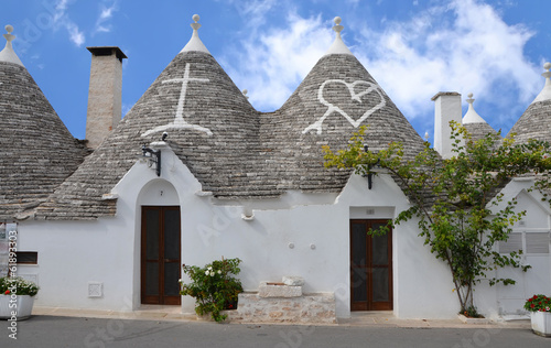 Trulli in the southern Italian town of Alberobello