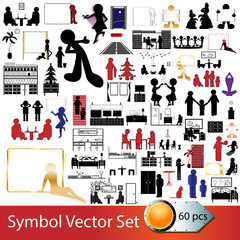 Symbol Vector Set - 60 pieces