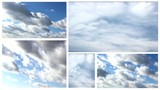 clouds weather  multi screen timelapse