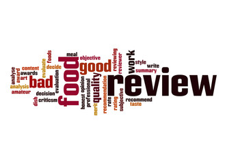 Food review  word cloud