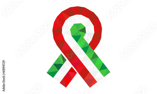Hungarian Revolution of 1848, tricolor cockade vector