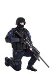SWAT officer with sniper rifle