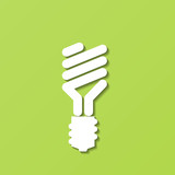 Energy-Saving Light Bulb. Vector