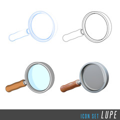 3D Iconset Lupe