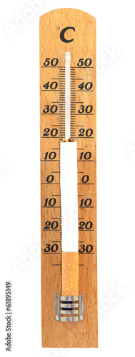 Thermometer with a cigarette on it
