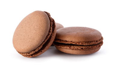 Fresh chocolate macarons