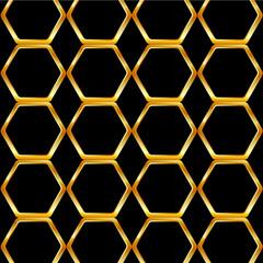 Golden honey cell background