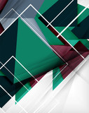 Geometrical colorful shapes abstract background
