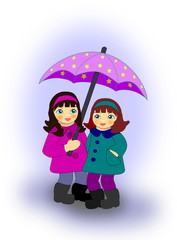 Girls with Umbrella