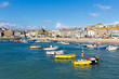 Boats in St Ives harbour Cornwall England