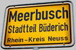 City limit sign, City of Meerbusch Germany