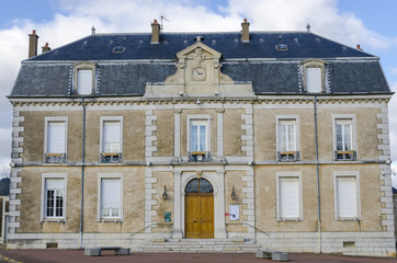 city hall of Vosne-Romanee, burgundy, France, saone-et-loire