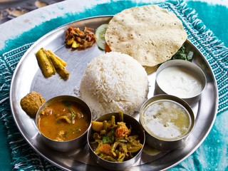 Typical Nepalese Meal, Thali